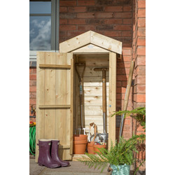 Forest Forest Garden Shiplap Small Garden Store 138cm (h) x 65cm (w) x 51cm (d) - 32574 - from Toolstation