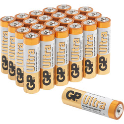 GP Batteries GP Ultra Alkaline Battery AAA - 32653 - from Toolstation