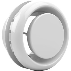 White PVC Ceiling Vent Diffuser / Valve 100mm - 32832 - from Toolstation