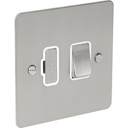 Flat Plate Satin Chrome Fused Spur 13A Switched - 32844 - from Toolstation