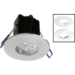 Robus ROBUS Tri LED Fire Rated 9W Dimmable Downlight 3x 3W Warm White 385lm - 32882 - from Toolstation