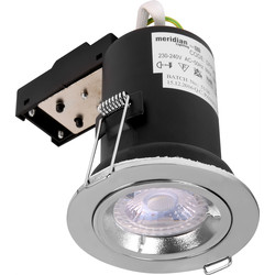 Meridian Lighting Fire Rated Cast GU10 Downlight Chrome - 32910 - from Toolstation