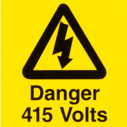 CED Electrical Warning Signs Danger 415 Volts - 32983 - from Toolstation