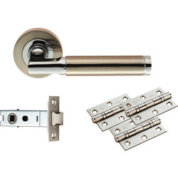 Carlisle Brass Belas Latch Pack - Ultimate Door Pack Satin Nickel/Polished Chrome - 33126 - from Toolstation