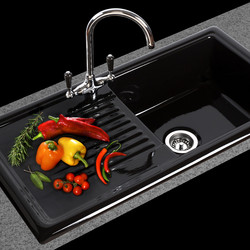 Reginox Single Bowl Ceramic Kitchen Sink & Drainer