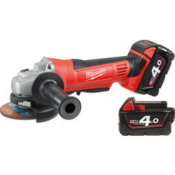 Milwaukee Milwaukee HD18AG-402C 18V Li-Ion Cordless 115mm Angle Grinder 2 x 4.0Ah - 33167 - from Toolstation