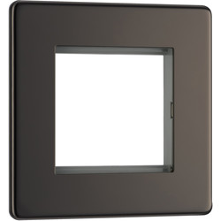 Screwless Flat Plate Black Nickel Data Plate