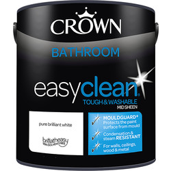 Crown Crown Breatheasy Bathroom Emulsion Paint 2.5L Pure Brilliant White - 33203 - from Toolstation