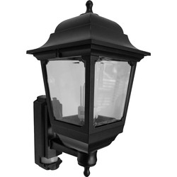 ASD ASD 4 Sided Coach Lantern 100W 100W BC Black PIR - 33241 - from Toolstation