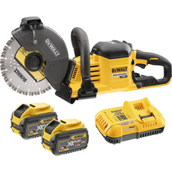 DeWalt DCS690 54V XR FlexVolt 230mm Cut Off Saw 2 x 9.0Ah