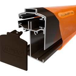 Alukap Alukap-SS Self Support Gable Bar Brown 3000mm - 33389 - from Toolstation