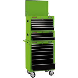 "Draper Draper Combination Roller Cabinet and Tool Chest 26"" 15 drawer - 33413 - from Toolstation"