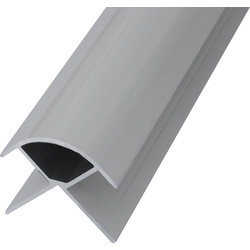 Mermaid Mermaid Laminate Shower Wall Panel Trims White External Corner - 33553 - from Toolstation