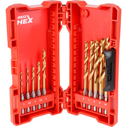 Milwaukee Milwaukee Shockwave HSS-G Red Hex Impact Rated Drill Bit Set  - 33555 - from Toolstation