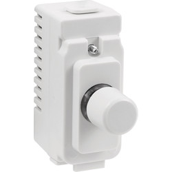 Crabtree Crabtree Rockergrid Dimmer Switch Module White 400W - 33643 - from Toolstation