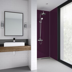 Mermaid Mermaid Acrylic Shower Wall Panel Plum 2440mm x 900mm x 4mm - 33645 - from Toolstation