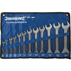 Silverline Double Open Ended Spanner Set  - 33703 - from Toolstation