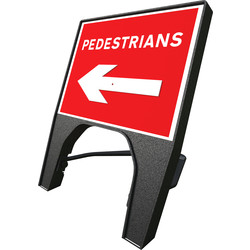 "Melba Swintex Melba Swintex Q Sign ""Pedestrian"" Reversible Traffic Sign  - 33823 - from Toolstation"