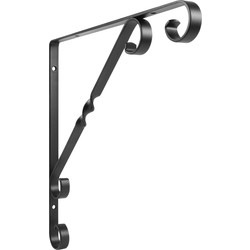 Ornamental Shelf Bracket 250 x 250mm Black