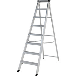 Youngman Youngman Industrial Builders Step Ladder 8 Tread SWH 2.81m - 33990 - from Toolstation