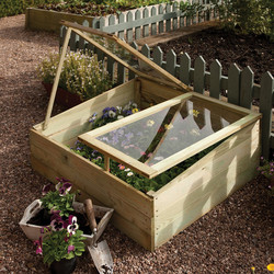 Rowlinson Rowlinson Timber Coldframe 38cm (h) x 102cm (w) x 81cm (d) - 34064 - from Toolstation