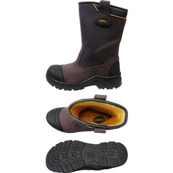 DeWalt DeWalt Millington PU Rigger Safety Boots Size 7 - 34074 - from Toolstation