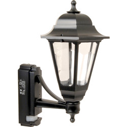ASD ASD Coach Lantern Polycarbonate 100W BC Black PIR - 34127 - from Toolstation