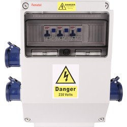 Hook Up Unit 3 x 16A Socket & RCBO - 34313 - from Toolstation
