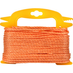 Polypropylene Rope Orange 4mm x 30m - 34370 - from Toolstation