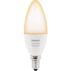 Philips Hue Philips Hue White Ambiance Candle Lamp E14/SES - 34418 - from Toolstation