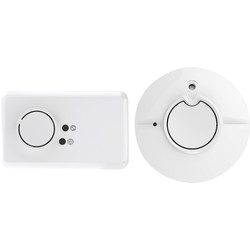 FireAngel FireAngel Combination Pack - Battery Smoke Alarm and Carbon Monoxide Alarm Battery Powered - 34444 - from Toolstation