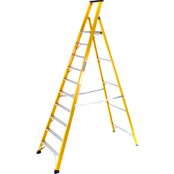 TB Davies TB Davies Fibreglass Platform Step Ladder 10 Tread SWH 4.0m - 34477 - from Toolstation
