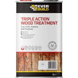Everbuild Triple Action Wood Treatment 5L - 34502 - from Toolstation