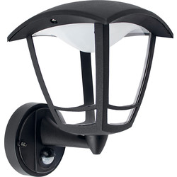 Luceco LUCECO Exterior LED 4 Panel PIR Coach Lantern IP44 8W 640lm - 34516 - from Toolstation