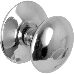 Unbranded Victorian Chrome Knob 50mm - 34602 - from Toolstation