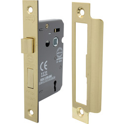 3 Lever Mortice Sashlock 63mm Electro Brass - 34723 - from Toolstation