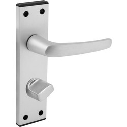 Unbranded Aluminium Black End Cap Door Handles Bathroom Satin - 34733 - from Toolstation