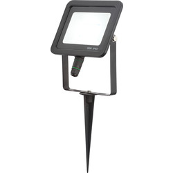 Otley 30W LED Spike Floodlight Cool White 2400lm - 34771 - from Toolstation