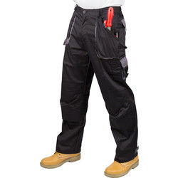 "Portwest Texo Contrast Trousers 36""-38"" R Black/Grey - 34806 - from Toolstation"