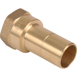 "Hep2O Hep2O Female Adaptor Brass Spigot 22mm x 3/4"" - 34835 - from Toolstation"