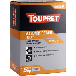 Toupret Toupret Touprelith F Exterior Masonry Repair Filler 1.5kg - 35114 - from Toolstation