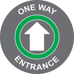 Centurion 'One Way - Entrance' Floor Graphic 400mm - 35160 - from Toolstation