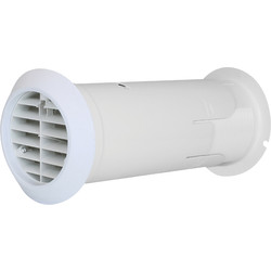 Airvent 100mm Internal Fit Wall Kit With Back Draft Shutter