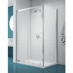 Merlyn NIX  Merlyn NIX Sliding Shower Enclosure Door 1400mm - 35195 - from Toolstation