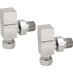 Reina Loge Chrome Valve Angled - 35197 - from Toolstation
