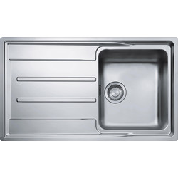 Franke Franke Aton Reversible Stainless Steel Kitchen Sink & Drainer Single Bowl - 35224 - from Toolstation