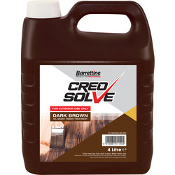 Barrettine CreoSolve Shed & Fence Treatment 4L Dark Brown - 35297 - from Toolstation