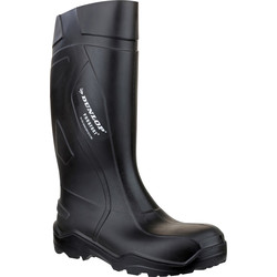 Dunlop Dunlop Purofort Plus C762041 Safety Wellington Black Size 12 - 35369 - from Toolstation
