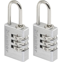 Master Lock Master Lock Combination Padlock Aluminium 20 x 55 x 9mm - 35378 - from Toolstation