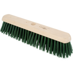 "Hill Brush Company Stiff Platform Broom Green PVC 18"" - 35439 - from Toolstation"